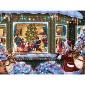 Christmas Family Party - Paint By Numbers Kit For Adults - Easy Paint By Number Kits for adults- DIY Snow