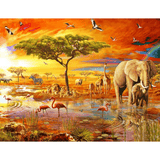 Africa Wildlife - Paint By Numbers Kit For Adults - Easy Paint By Number Kits for adults- DIY Animals