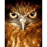 Scary Eagle - Paint By Number Kit For Adults - Easy Paint By Number Kits for adults- DIY Animals