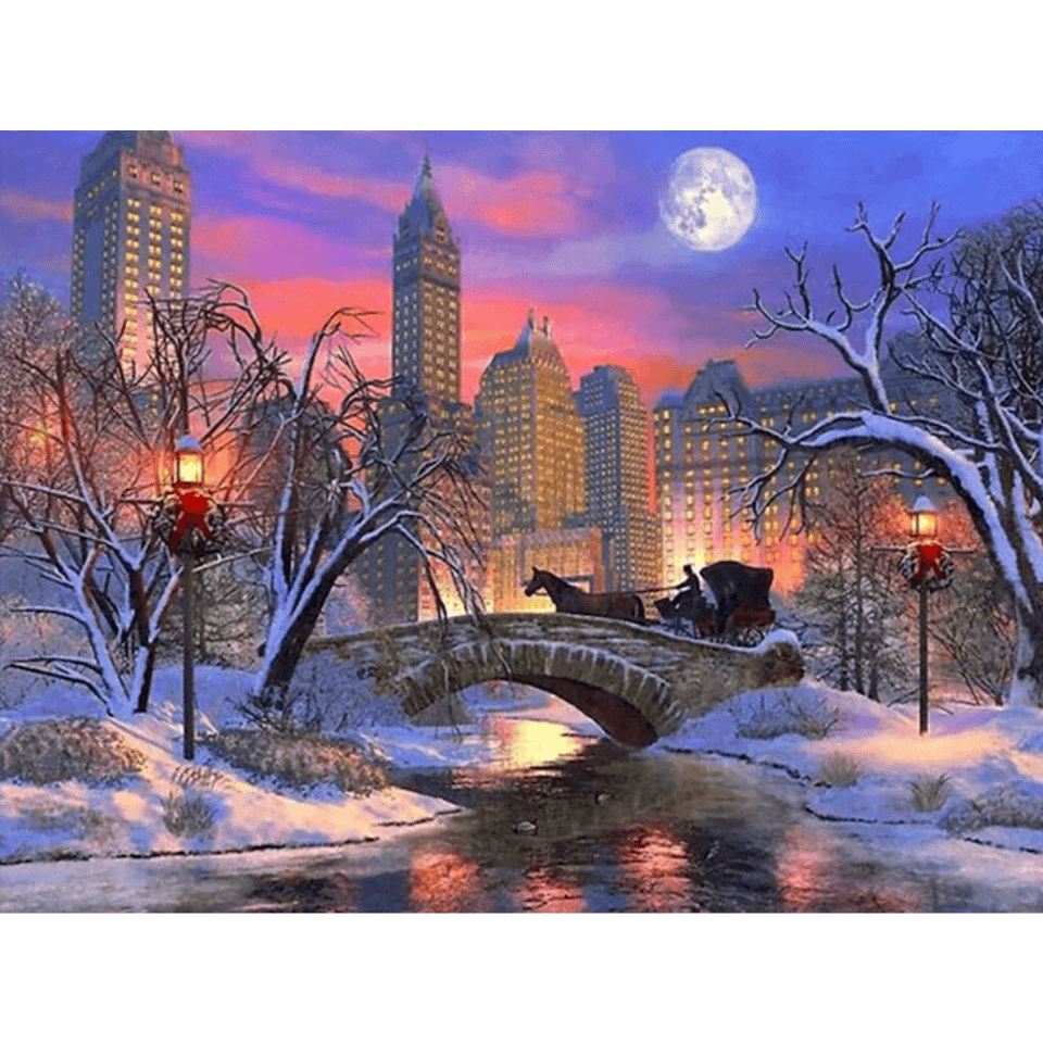 City Night - Paint By Numbers Kit For Adults - Easy Paint By Numbers - DIY City