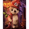 Pumpkin Dog - Paint By Numbers Kit For Adults - Easy Paint By Number Kits for adults- DIY Kids