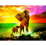 African Elephant - Paint By Numbers Kit For Adults - Easy Paint By Numbers - DIY Animals