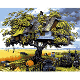 Tree House - Paint By Numbers Kit For Adults - Easy Paint By Numbers - DIY Miss
