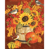 Birds On Sunflower - Paint By Numbers Kit For Adults - Easy Paint By Number Kits for adults- DIY Animals
