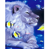 Colorful Lion - Paint By Numbers Kit For Adults - Easy Paint By Number Kits for adults- DIY Animals