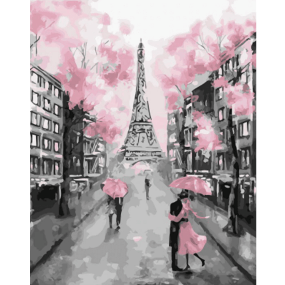 Romantic Paris - Paint By Numbers Kit For Adults - Easy Paint By Number Kits for adults- DIY City