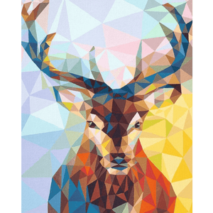 Abstract Deer - Paint By Numbers Kit For Adults - Easy Paint By Numbers - DIY Miss