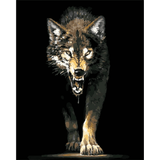 Angry Wolf - Paint By Numbers Kit For Adults - Easy Paint By Number Kits for adults- DIY Animals