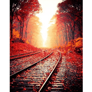 Autumn Track - Paint By Numbers Kit For Adults - Easy Paint By Numbers - DIY Miss