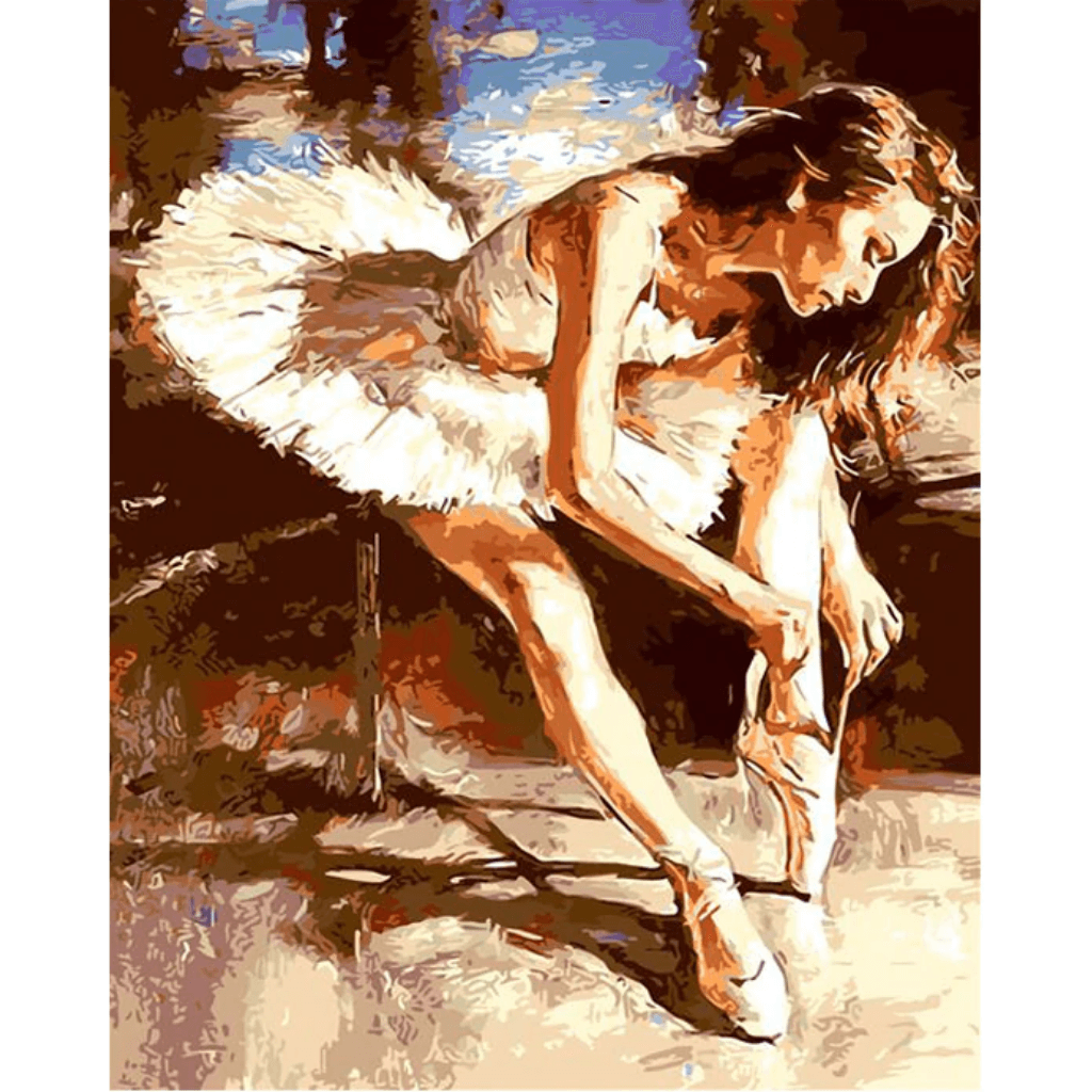 Ballet Dancer - Paint By Numbers Kit For Adults - Easy Paint By Number Kits for adults- DIY Love
