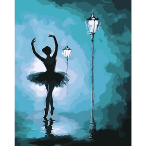 Ballet Dancer In Street - Paint By Numbers Kit For Adults - Easy Paint By Numbers - DIY Miss