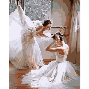 Ballet Twins - Paint By Numbers Kit For Adults - Easy Paint By Number Kits for adults- DIY Love