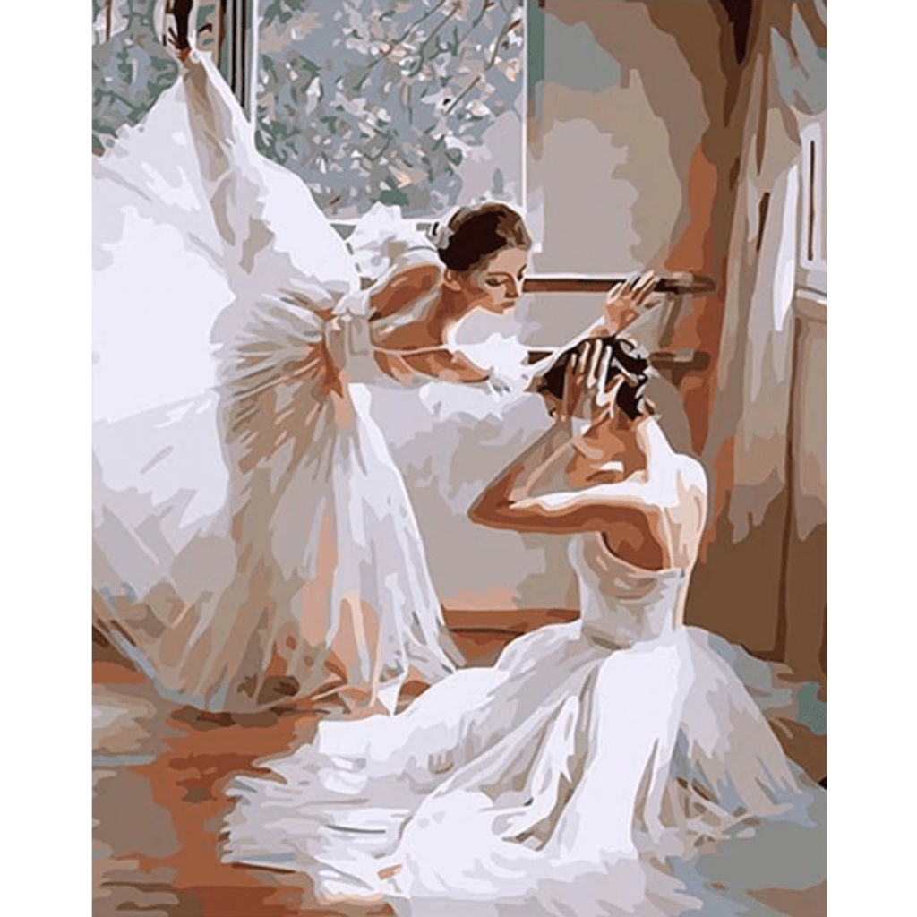 Ballet Twins - Paint By Numbers Kit For Adults - Easy Paint By Numbers - DIY Love