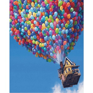 Baloon House  - Paint By Numbers Kit For Adults - Easy Paint By Numbers - DIY Objects