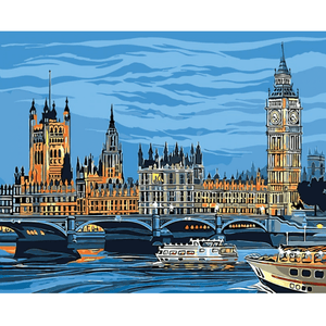 Big Ben - Paint By Numbers Kit For Adults - Easy Paint By Numbers - DIY City