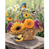 Birds on Flower Basket - Paint By Numbers Kit For Adults - Easy Paint By Number Kits for adults- DIY Flowers