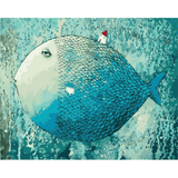 Blue Fish - Paint By Numbers Kit For Adults - Easy Paint By Number Kits for adults- DIY Miss