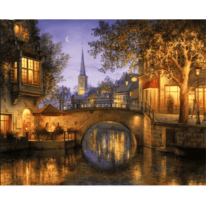 Bridge Night - Paint By Numbers Kit For Adults - Easy Paint By Numbers - DIY City