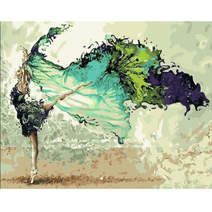Calligraphy Dancer - Paint By Numbers Kit For Adults - Easy Paint By Numbers - DIY Love