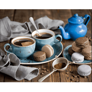 Coffee & Cookie - Paint By Numbers Kit For Adults - Easy Paint By Number Kits for adults- DIY Miss