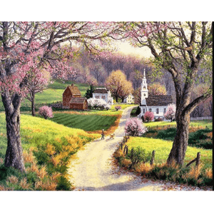 Countryside - Paint By Numbers Kit For Adults - Easy Paint By Numbers - DIY City