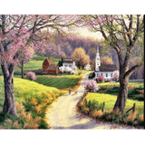 Countryside - Paint By Numbers Kit For Adults - Easy Paint By Number Kits for adults- DIY City