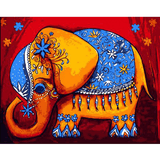 Decor Elephant - Paint By Numbers Kit For Adults - Easy Paint By Numbers - DIY Miss