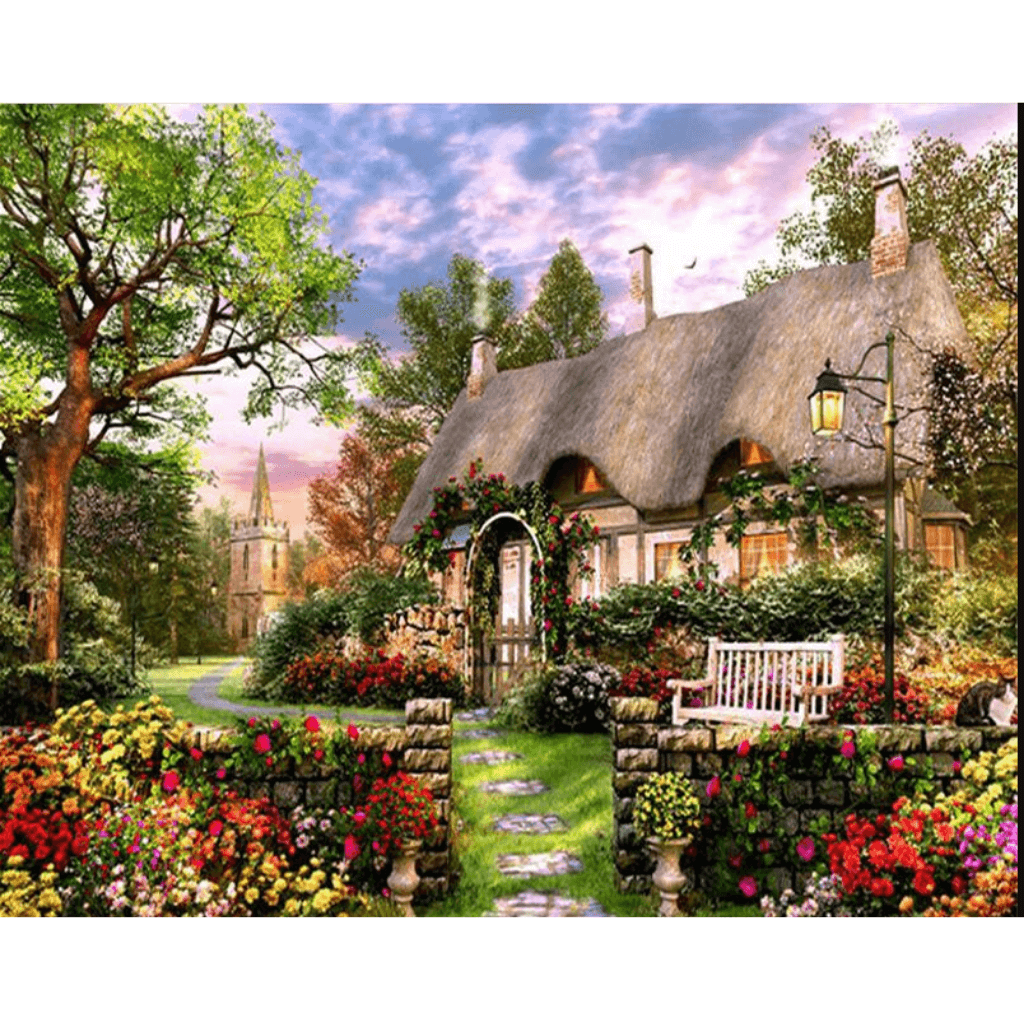 Dream Manor - Paint By Numbers Kit For Adults - Easy Paint By Number Kits for adults- DIY Land