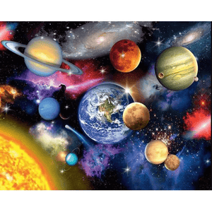 Earth Space - Paint By Numbers Kit For Adults - Easy Paint By Number Kits for adults- DIY Land