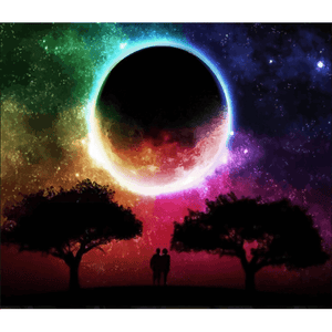 Eclipse Moon - Paint By Numbers Kit For Adults - Easy Paint By Numbers - DIY Miss