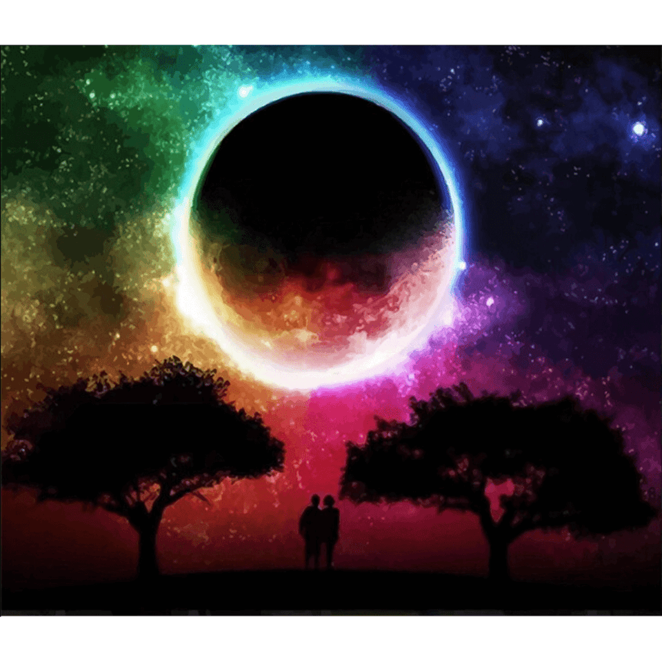 Eclipse Moon - Paint By Numbers Kit For Adults - Easy Paint By Number Kits for adults- DIY Miss