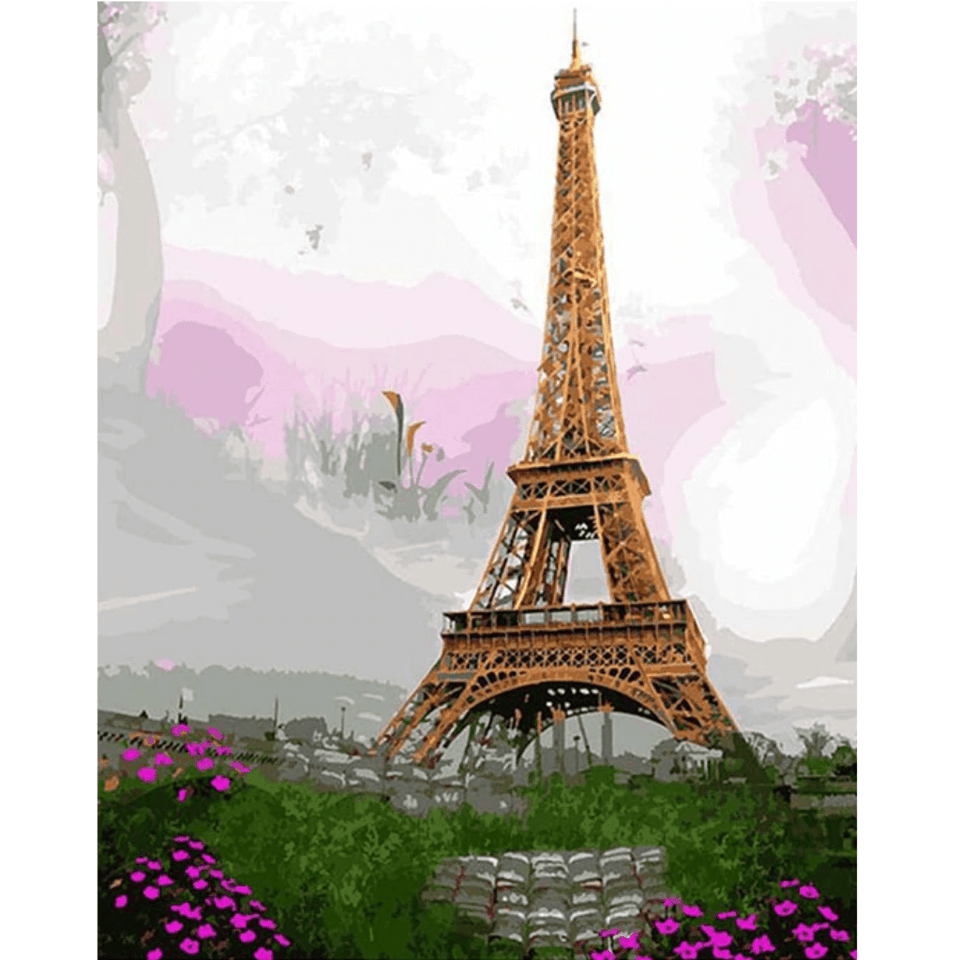 Eiffel Tower - Paint By Numbers Kit For Adults - Easy Paint By Numbers - DIY City