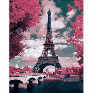 Eiffel Tower - Paint By Numbers Kit For Adults - Easy Paint By Number Kits for adults- DIY City