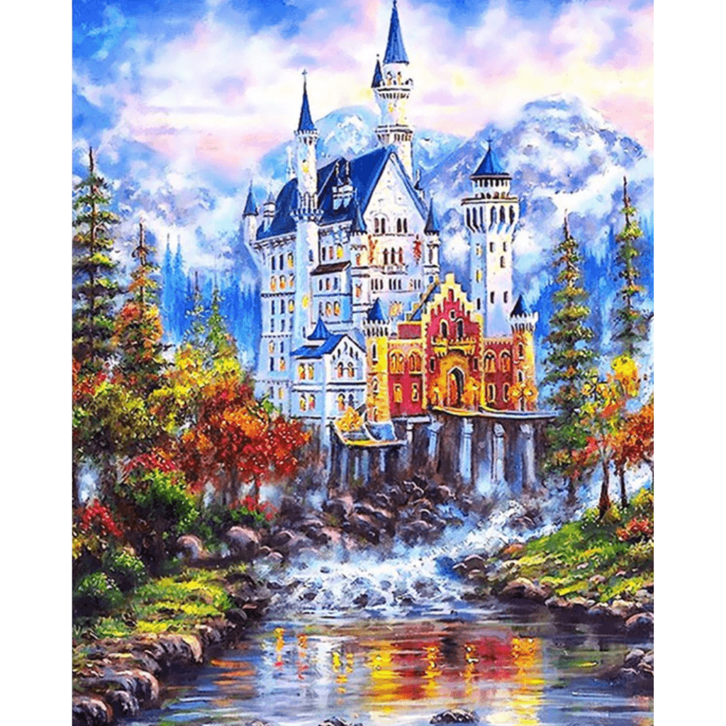 Fairy Tale Castle - Paint By Numbers Kit For Adults - Easy Paint By Numbers - DIY Land