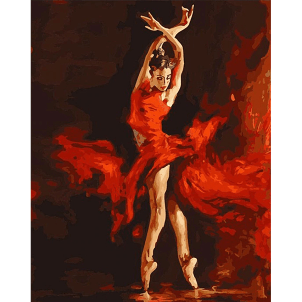 Fire Dancer - Paint By Numbers Kit For Adults - Easy Paint By Numbers - DIY Love