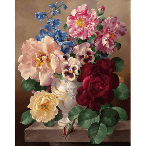 Five Flowers - Paint By Numbers Kit For Adults - Easy Paint By Number Kits for adults- DIY Flowers