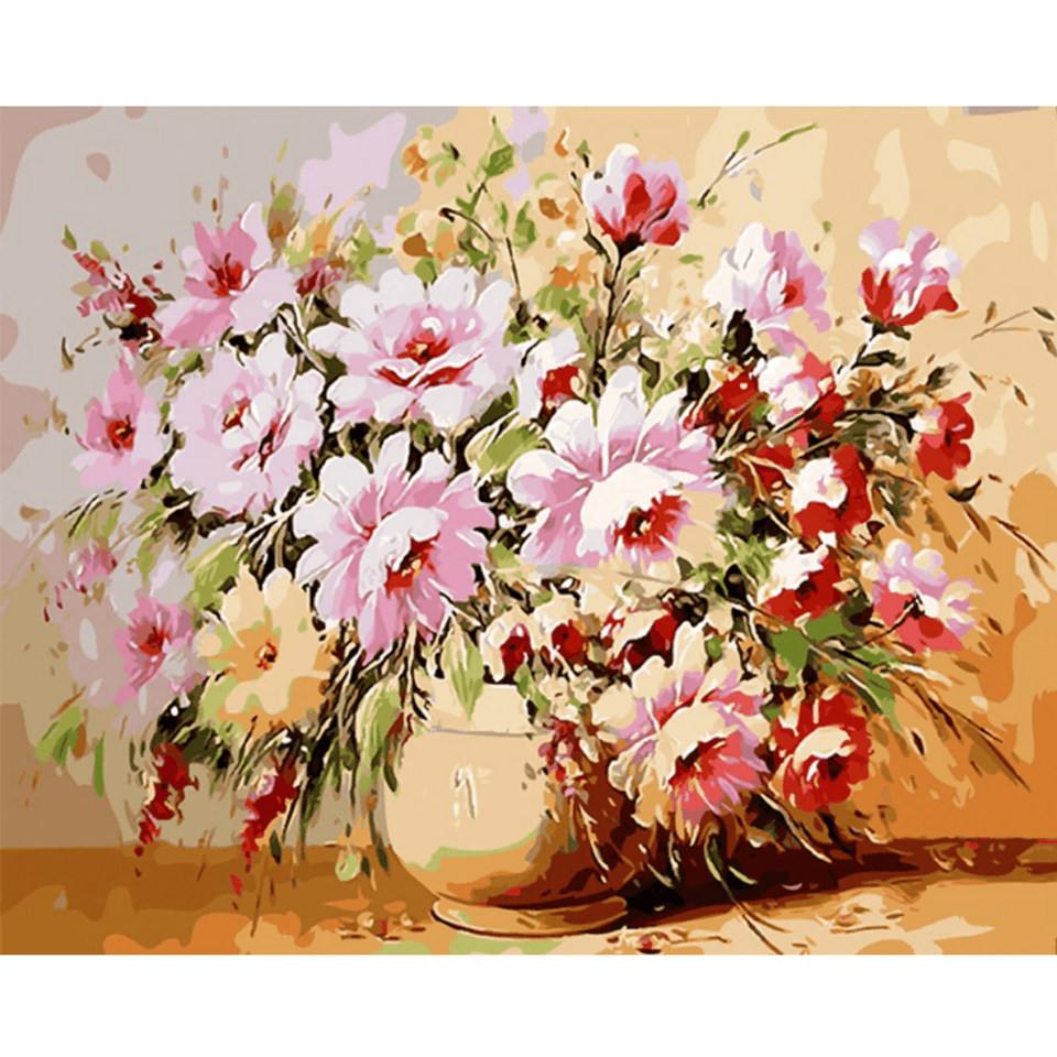 Frame Flowers - Paint By Numbers Kit For Adults - Easy Paint By Numbers - DIY Flowers