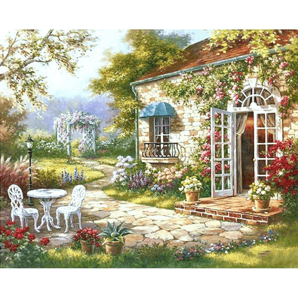 Garden - Paint By Numbers Kit For Adults - Easy Paint By Number Kits for adults- DIY Land