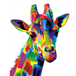 Giraffe - Paint By Numbers Kit For Adults - Easy Paint By Number Kits for adults- DIY Animals
