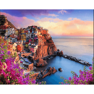 Harbor Landscape - Paint By Numbers Kit For Adults - Easy Paint By Numbers - DIY Land