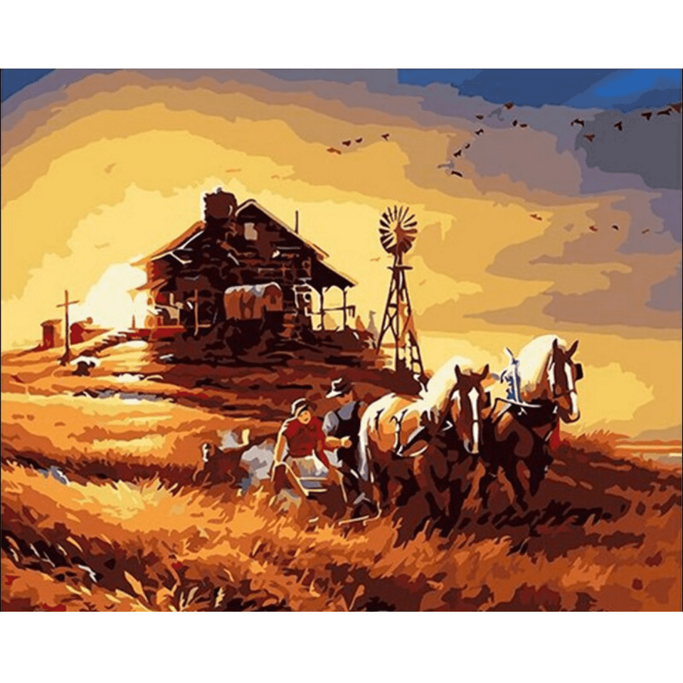 Harvest - Paint By Numbers Kit For Adults - Easy Paint By Number Kits for adults- DIY Land