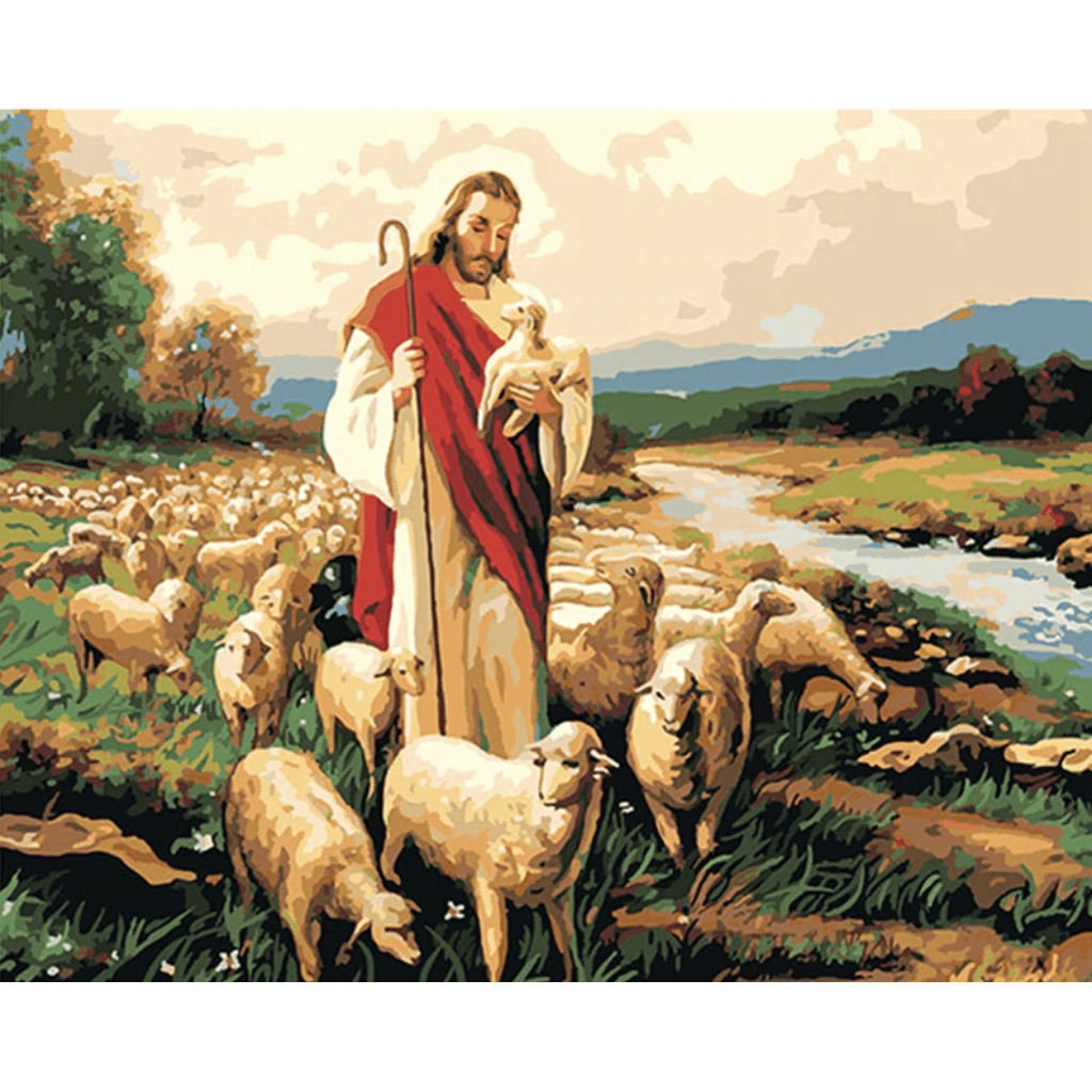 Jesus Love - Paint By Numbers Kit For Adults - Easy Paint By Number Kits for adults- DIY Animals