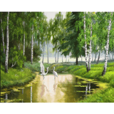 Lake Forest - Paint By Numbers Kit For Adults - Easy Paint By Numbers - DIY Land