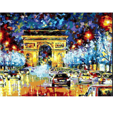 London Night Street - Paint By Numbers Kit For Adults - Easy Paint By Number Kits for adults- DIY City
