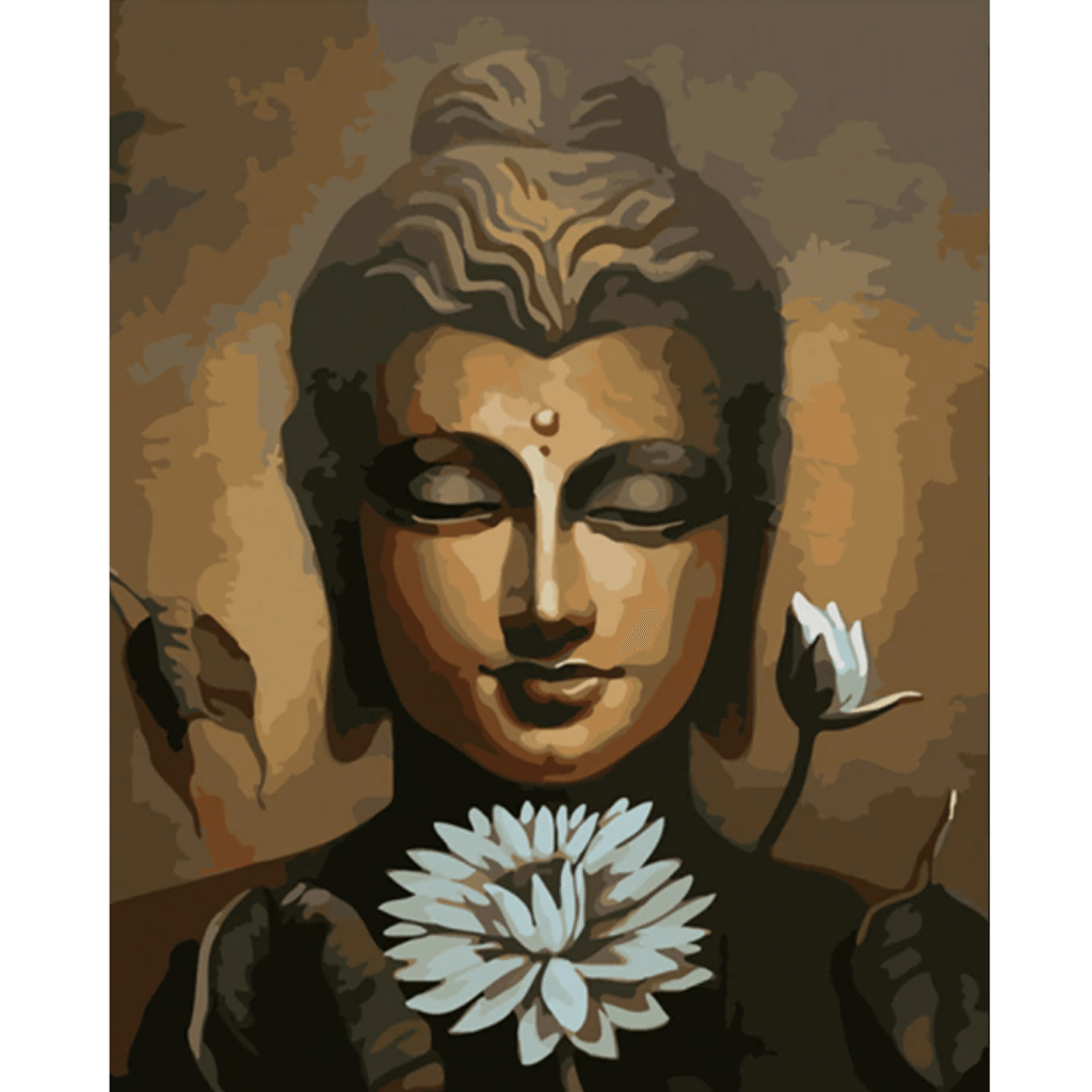 Lotus Buddha - Paint By Numbers Kit For Adults - Easy Paint By Numbers - DIY Flowers