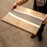 You could win this unique one of a kind resin charcuterie board.