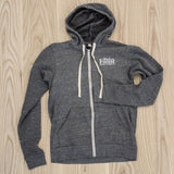 Black Forest Heather Grey Zipper Tri-blend Hoodie