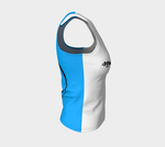 Strike Thru Fitted Tank (regular) Blue