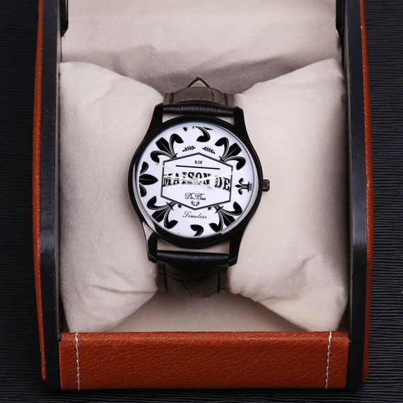 V:IV Maison de DuBois 30 Meters Waterproof Quartz Timeless Collection w/ Black Genuine Leather