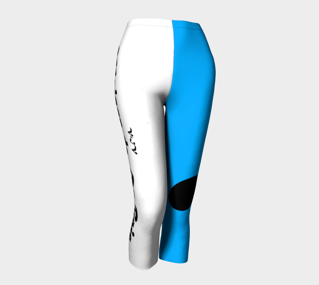 V:IV Maison de DuBois Two Tone Blue & White Strike Thru Leggings